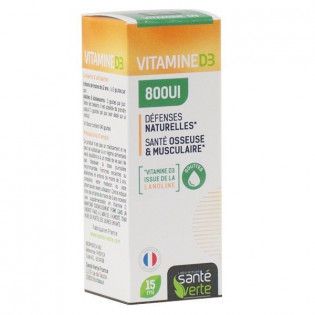Santé Verte Vitamine D3 1000UI - Spray 20ml