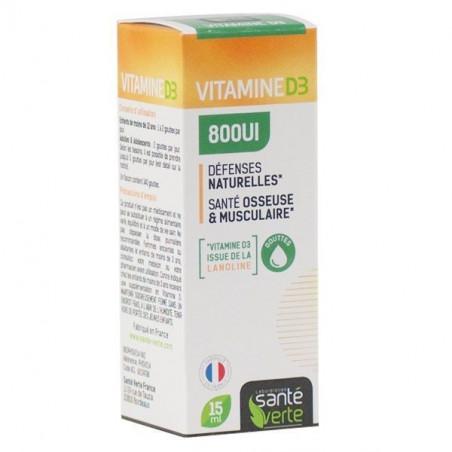 Santé Verte Vitamine D3 800UI - GOUTTES 15ml