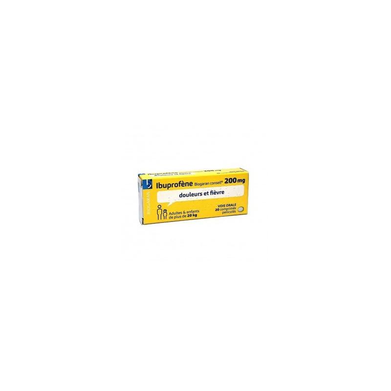 Ibuprofène Biogaran 200mg 20 comprimés pelliculés