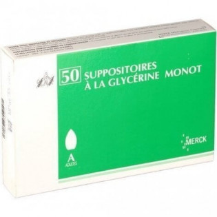 50 Suppositoires à la glycérine Monot Adultes