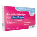 Borax / Acide Borique 10 unidoses ophtalmiques Mylan