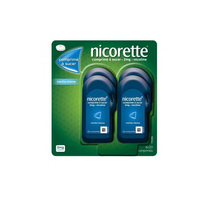 Nicorette 2 mg 4 x 20 comprimés à sucer Menthe Intense