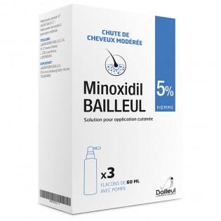 Minoxidil Bailleul sol ext 5% Flacons 3x60ml