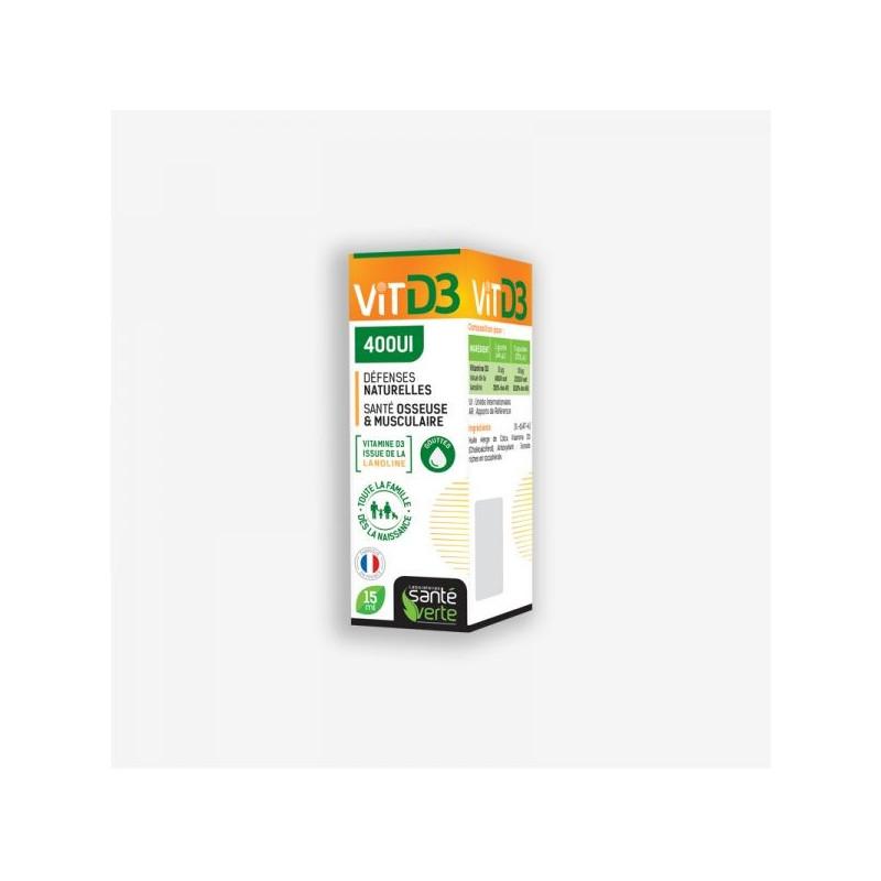 Santé Verte Vitamine D3 400UI - GOUTTES 15ml