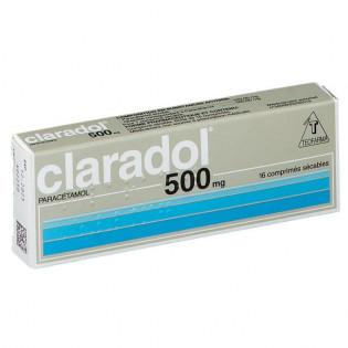 Claradol 500 mg 16 comprimés sécables