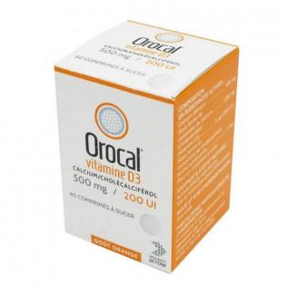 Orocal vitamine D3 500 mg/200 UI 60 comprimés à sucer