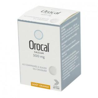 Orocal 500 mg 60 comprimés à sucer ou à croquer