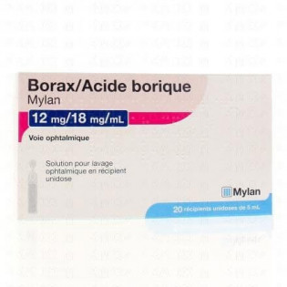 Borax / Acide Borique 12 mg/18 mg/ml 20 unidoses de 5 ml Mylan