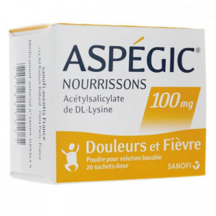 Aspégic Nourrissons 100 mg 20 sachets
