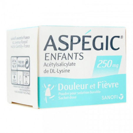Aspégic Enfants 250 mg 20 sachets
