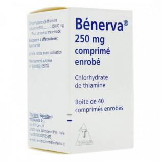 Bénerva 250 mg 40 comprimés