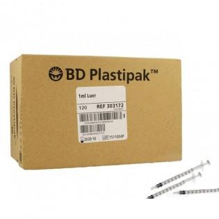 BD Plastipak 303172 Luer Tuberculine 1 ml Sans Aiguille 120 pièces