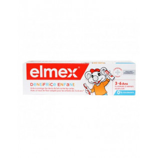 Elmex Dentifrice Enfant 3-6 ans 0% colorants 50 ml