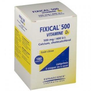 Fixical Vitamine D3 1000 mg/800 UI 30 comprimés à sucer
