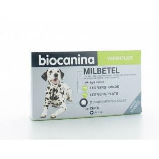 Biocanina Milbetel Vermifuge Chien +5 kg 2 comprimés