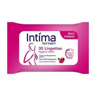 Intima Gyn'Expert 30 Lingettes Intimes Cranberry