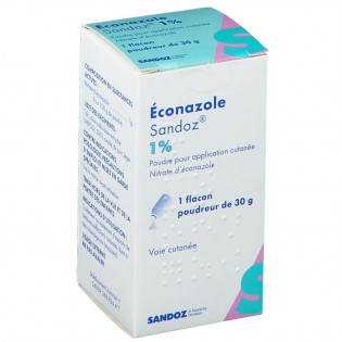 Éconazole Poudre 1% Sandoz 30 g