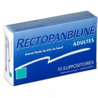 Rectopanbiline Adultes 10 suppositoires