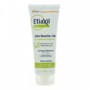 Etiaxil Déo-Douche 24h Gel Lavant Déodorant Anti-Odeurs Citron Jaune et Litsée 200 ml