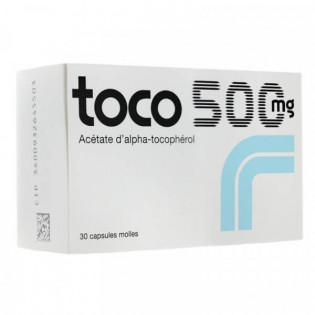 Toco 500 mg 30 Capsules Molles