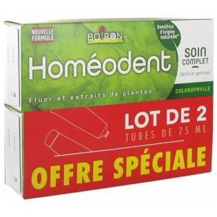 Homéodent Dentifrice Chlorophylle Nouvelle Formule 2 x 75 ml