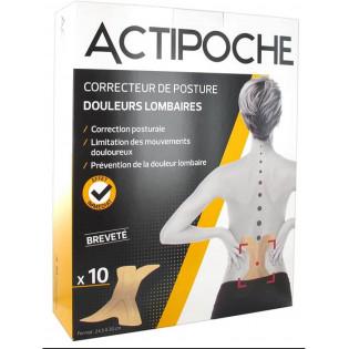 Actipoche Correcteur de Posture Douleurs Lombaires x10