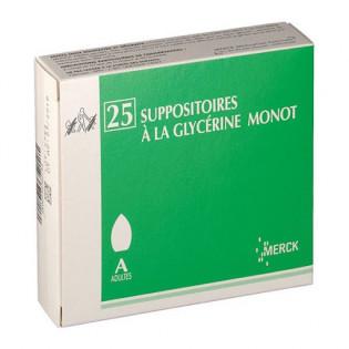 50 Suppositoires à la glycérine Monot Adultes