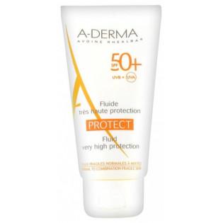 A-derma Protect Fluide Très Haute Protection SPF50+ 40 ml