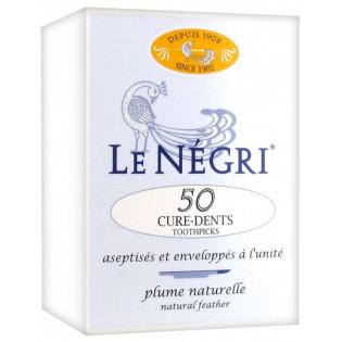 Le Négri - 50 Cure Dents en Plume Naturelle