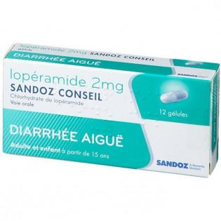 Lopéramide 2 mg Sandoz Conseil 12 gélules