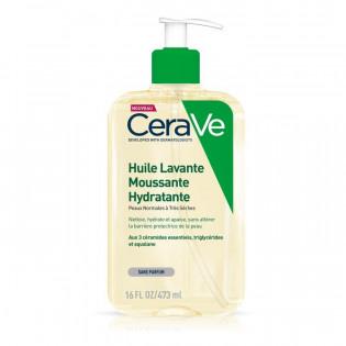 CeraVe - Huile Lavante Moussante et Hydratante - Peaux Normales à Très Sèches 473 ml