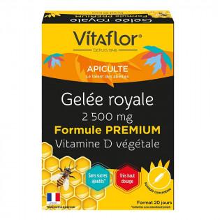 VITAFLOR Bio Gelée Royale 2500mg + Vitamine D2 Naturelle 20 Ampoules