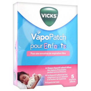 Vicks Vapo Patch pour Enfants - 5 Dispositifs Adhésifs