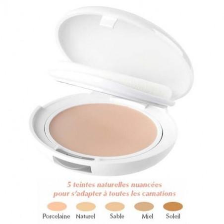 Avène Couvrance Crème de teint compacte Texture Confort MIEL. Poudrier 9.5g miroir