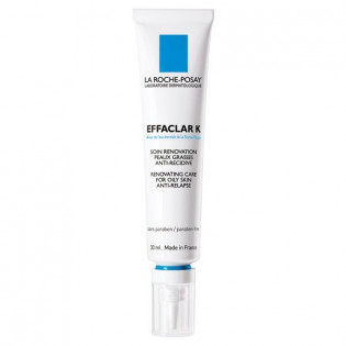 La Roche-Posay Effaclar K Soin rénovation Anti-Recidive peau grasse. Tube 30ML