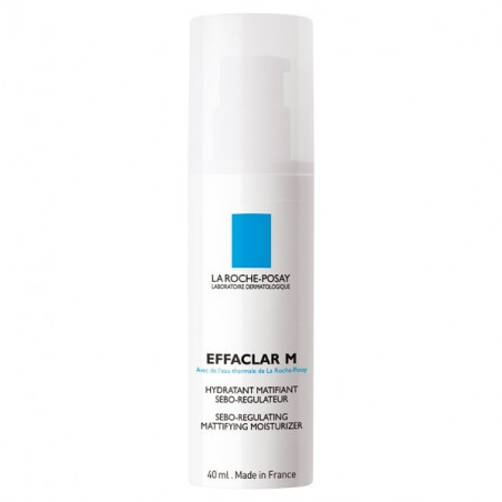 La Roche-Posay Effaclar M Soin Hydratant Matifiant. Flacon pompe 40ML