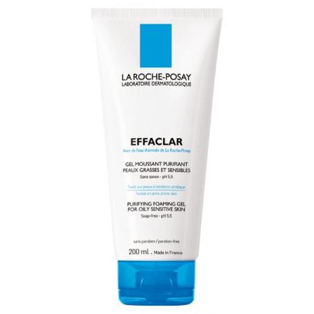 La Roche-Posay Effaclar Gel Moussant Purifiant sans savon - peau grasse. Tube 200ML