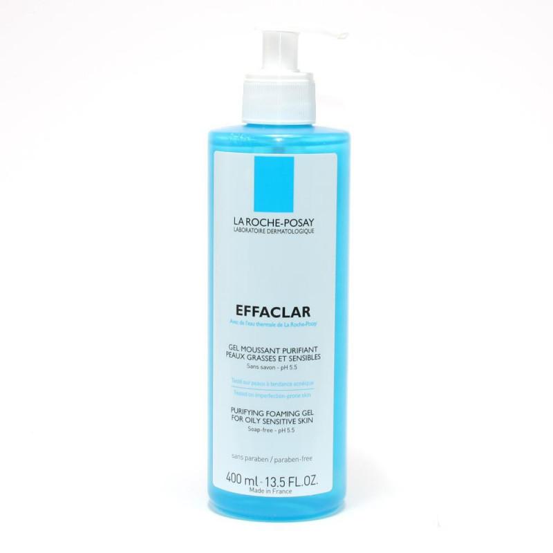 La Roche-Posay Effaclar Gel Moussant Purifiant sans savon - peau grasse. Tube 400ML