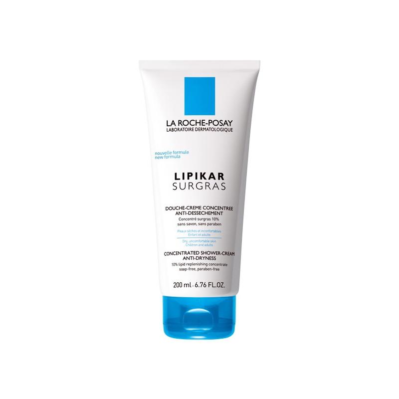 La Roche Posay LIPIKAR surgras Douche Crème Concentrée anti-dessèchement peau sèche. Tubes de 200ML