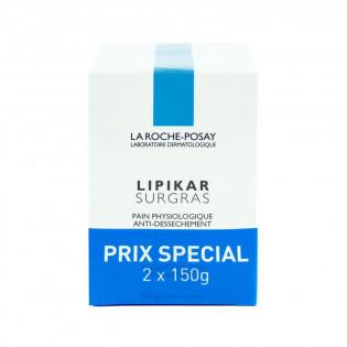 OFFRE SPECIALE La Roche Posay Lipikar Surgras Pain Physiologique Anti-dessèchement. Lot 2x150G