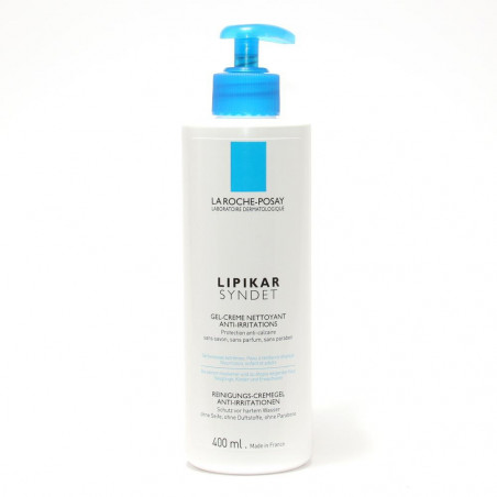 La Roche Posay Lipikar Syndet AP + crème Nettoyant anti-irritations. Tube pompe 400ML