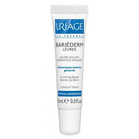 Uriage Bariederm CICA-Lèvres Baume isolant réparateur apaisant. Tube de 15ML