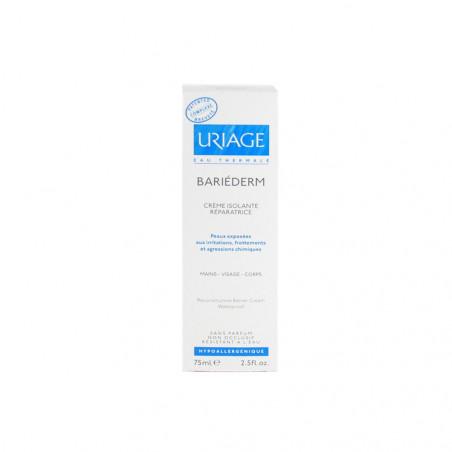 Uriage Bariederm Crème isolante réparatrice - mains visage corps. Tube de 75ML