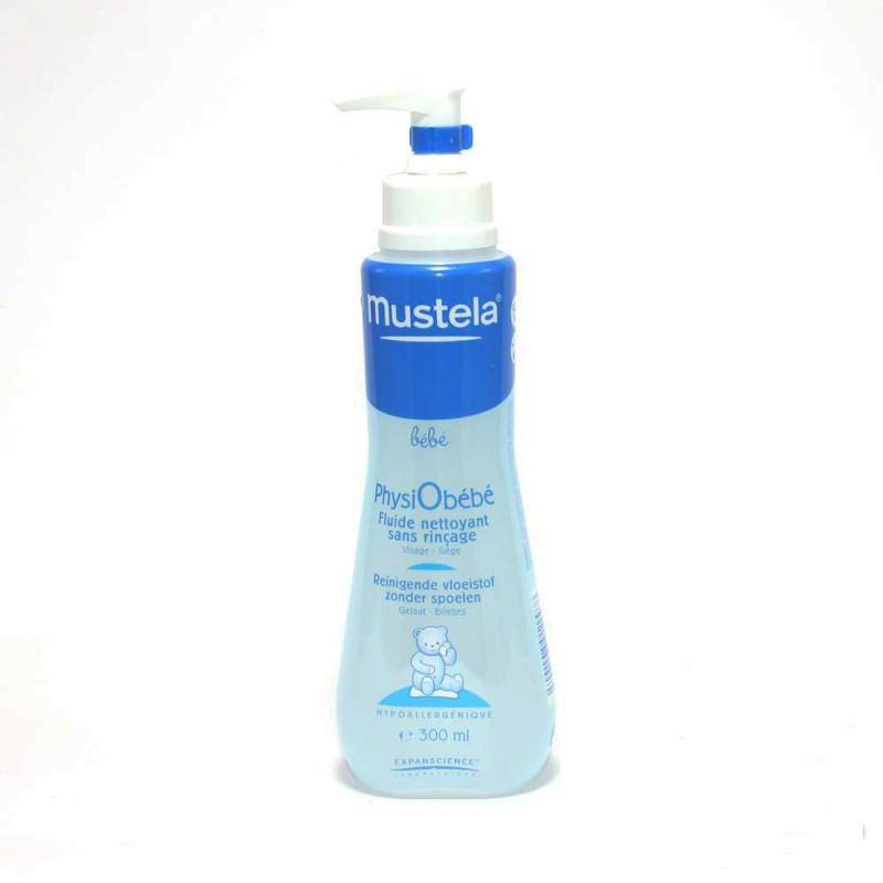 Mustela Physiobébé Fluide Nettoyant sans rinçage. Flacon pompe 300ML
