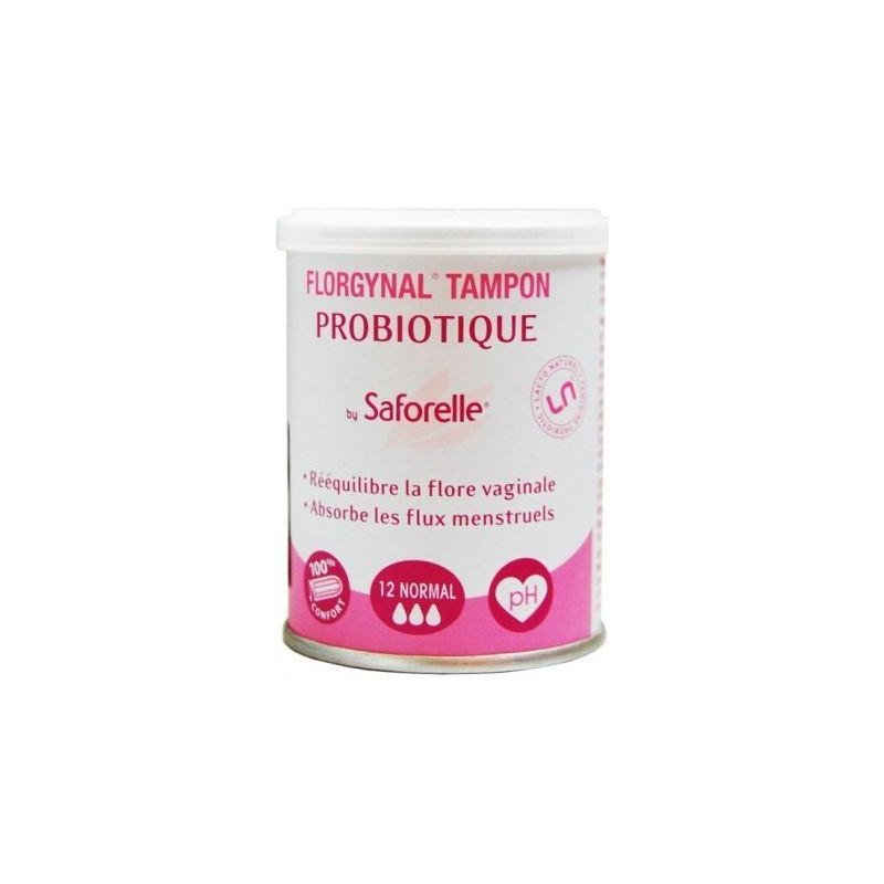 Iprad Saforelle Probiotique Florgynal Tampons x12 Flux normal