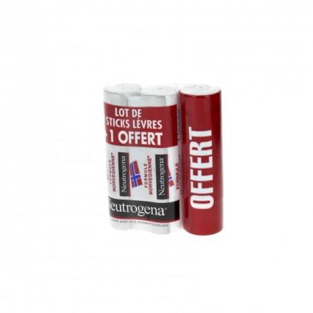 Neutrogena Stick Lèvres Lot de 2 + 1 Offert 3x4,8G